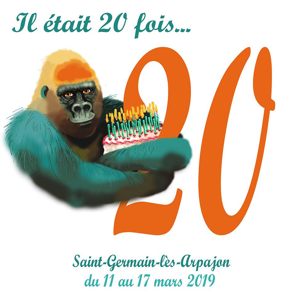 Il était 20 fois ... Illustration gorille