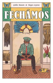 Fechamos, On ferme, lance le gardien du Musée national alors que le ciel de Rio flamboie dans le coucher du soleil.
