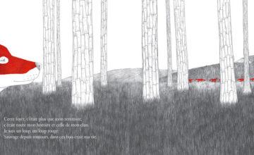 Le loup rouge quitte son territoire. Les hommes l'ont investi, ont abattu les loups de la meute ainsi que les arbres pour y construire des puits de pétrole…