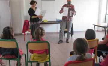 La médiathèque de Marolles-en-Hurepoix a reçu Didier Jean et Zad, mercredi 3 mars.