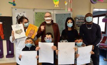 Au CMPSI Leopold Bellan de La Norville, les élèves de Mme Lemasson ont reçu Alan Mets, mercredi 3 mars.